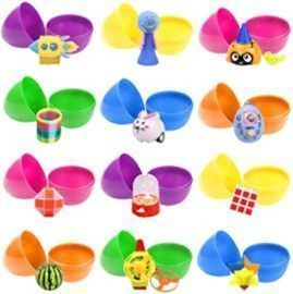 12 Pcs Prefilled Easter Eggs with Toys Inside