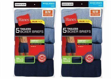 Hanes Men's Tagless Boxer Briefs (10-Pack)