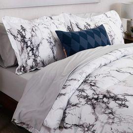 Microfiber Marble Printed Comforter Set