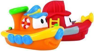 Nuby 2-Pack Tub Tugs Floating Boat Bath Toys