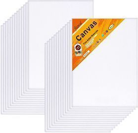16 Pack Canvas Boards 5 x 7 Inches
