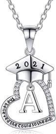 Initial Heart Graduation Necklaces