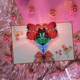 Mother's Day card with LED Light and Music
