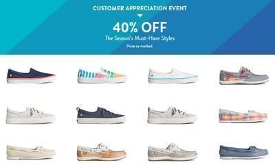 40% off all of these sneakers today at Sperry