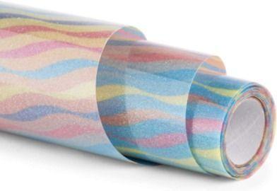 Rainbow Glitter HTV Vinyl Rolls - 12 x 5ft Iron on Vinyl