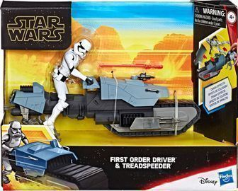 Hasbro Star Wars Galaxy of Adventures First Order Driver And Treadspeeder