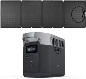 EF Ecoflow Delta Solar Generator w/ Solar Panel