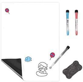 Small Magnetic Dry Erase Sheet + 3 Markers & Eraser