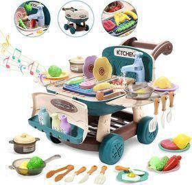 Cute Stone Play Kitchen Mini Shopping Cart Toy