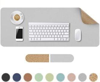 Natural Cork & Leather Desk Pad
