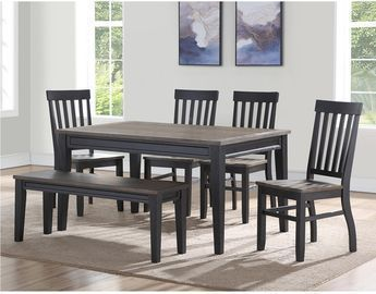 Steve Silver Raven Noir 6pc Dining Set