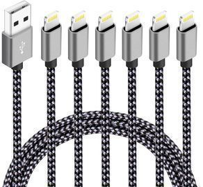 6Pack Nylon Braided Charging Cord Chargers