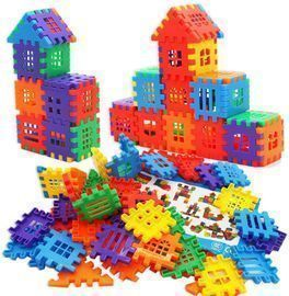 100pc Interlocking Building Blocks Toy Set