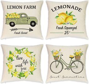 Farmhouse Lemon Pillow Covers