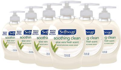 6pk of Softsoap Moisturizing Liquid Hand Soap