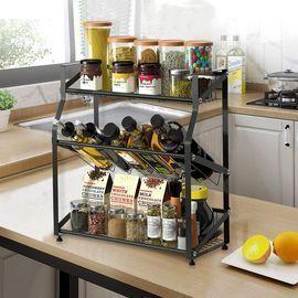 3 Tier Freestanding Kitchen Spice Rack Organizer