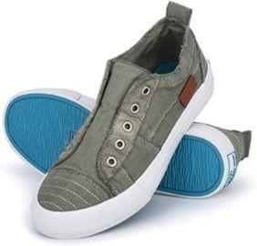 JENN ARDOR Womens Slip On Canvas Shoes