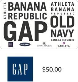 $50 Gap Inc. Gift Card (Email Delivery)