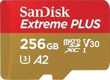 SanDisk Extreme PLUS 256GB microSDXC UHS-I Memory Card