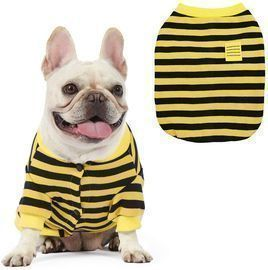 100% Cotton Striped Dog Shirt