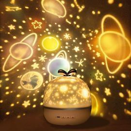 Rechargeable Star Projector Lamp with 360 Degree Rotation