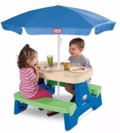 Little Tikes Easy Store Jr. Picnic Table w/ Umbrella
