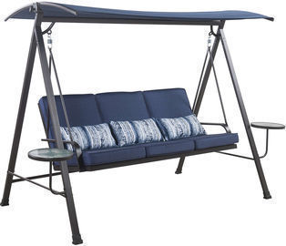 Living Accents 3-Person Swing with Tables