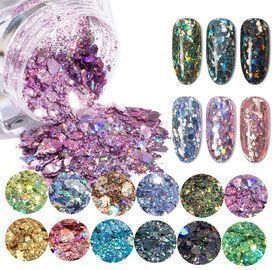 Holographic Nail Glitter Sequins-12Colors