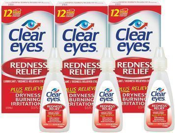 3PK of Clear Eyes,Redness Relief Eye Drops