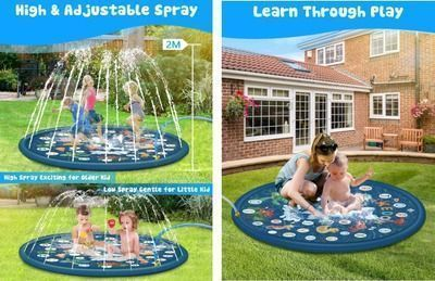 3-in-1 Splash Pad/Sprinkler/Wading Pool