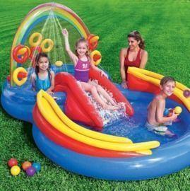 Intex Rainbow Slide Kids Play Inflatable Pool + $10 Kohl's Cash
