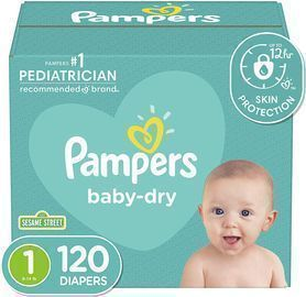 Pampers Newborn Diapers (Size 1-3, 120 Count)
