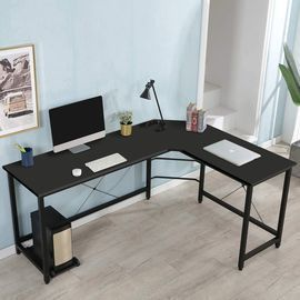 HOT!  KingSo L Shaped Computer Desk with CPU Stand