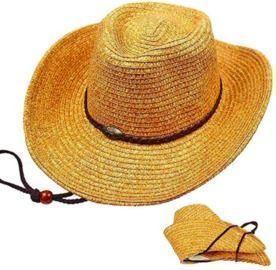 Folding Wide Brim Straw Hat