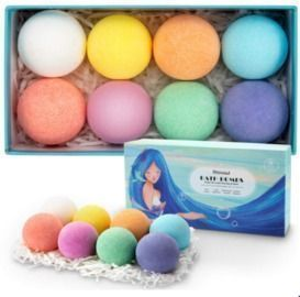 8Pcs Bath Bomb with Funny Fizz and Colors