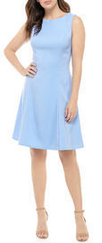 AGB Women's Solid Fit and Flare Dress