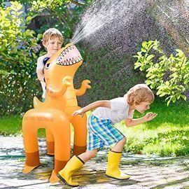 Ayeboovi Inflatable Dinosaur Water Sprinkler
