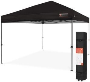 10' x 10' One Person Setup Instant Pop Up Canopy W/ Wheeled Bag