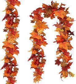 2 Pack Fall Leaf Garland