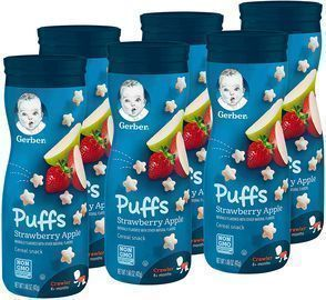 6ct Gerber Puffs Cereal Snack, Strawberry Apple