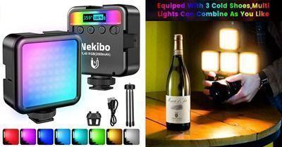 LED Video Light Kit with Desktop Tripod & Clip
