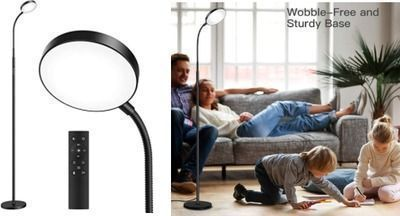 50% Off LED Floor Lamp with Remote & Touch Control