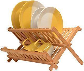 Bambsi Premium Bamboo Dish Drying Rack