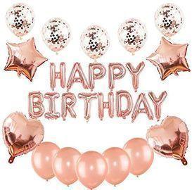 Birthday Decorations Set (Rose Gold)