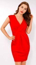 Elegant Faux Wrap Dress