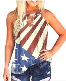 Independence Day Printed Tank Tops