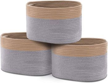 24L Woven Rope Cube Storage Bins