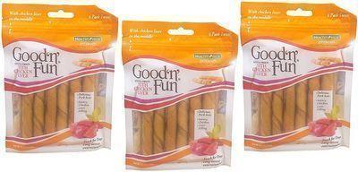 3pk of Good'n'Fun Rawhide Twists Dog Treats