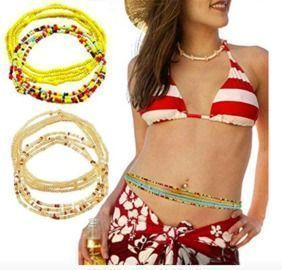 8 Piece Summer Jewelry Waist Bead Sets