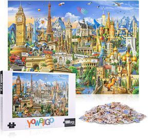 1000 Piece World Landmarks Wooden Jigsaw Puzzle